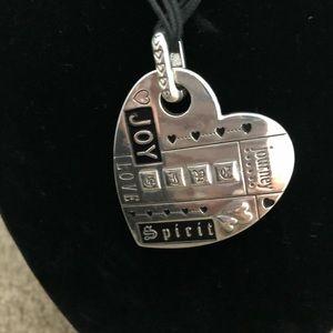 Brighton Jewelry - 💕Brighton Heart Message Necklace💕